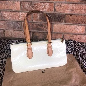 CERTIFIED Authentic LV Perle Vernis Rosewood Ave.